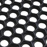 from JVL JVL Outdoor Honeycomb Rubber Ring Entrance Floor Door Mat, Plastic, Black, 40 x 60 cm Model 01-153