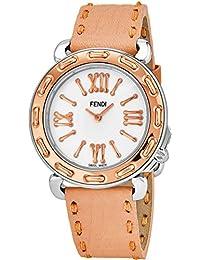 Fendi Selleria Femme 35mm Bracelet Cuir Marron Quartz Montre F8002345H0.SND7 5798860fad3