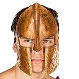 Amakando Increíble máscara espartana para Hombre / Bronce / Máscara de legionario / Rememorable para carnavales y Festivales