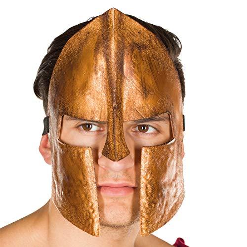Amakando stupenda maschera maschile da spartano / bronzo / maschera per viso da legionario / un successo per feste di carnevale