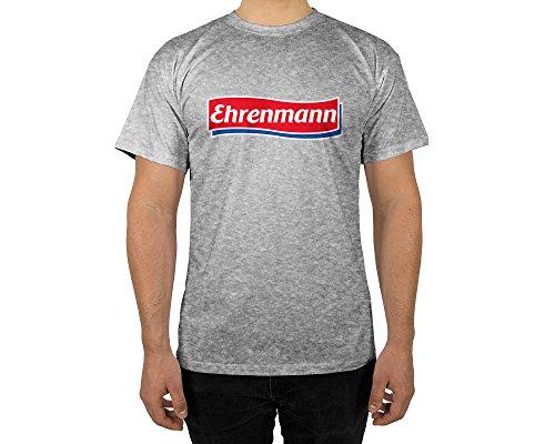 licaso Männer T-Shirt mit Aufdruck in Grau Gr. -