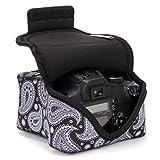 Funda Cámara de Fotos Reflex Digital | Estuche Semipermeable por USA Gear | Bolsa Protectora DSLR para Nikon, Canon EOS, Sony Alpha, Panasonic, Pentax K50, Accesorios y más
