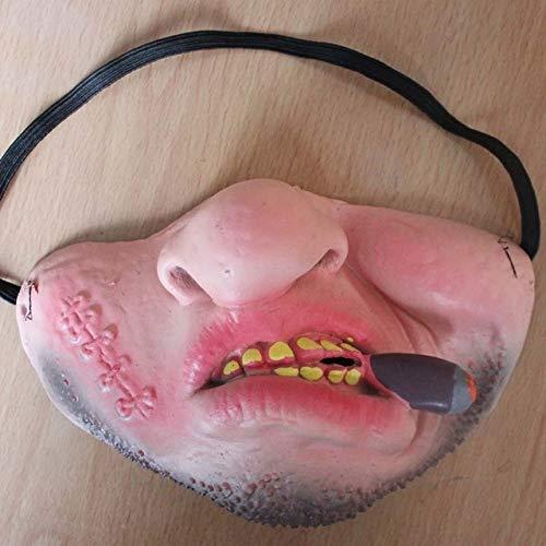 Krueger Streich Kostüm Freddy - LUOJUNHUAN Lustige Clown Maske Horror Maske Half Face Scary Maskerade Party Horror Maske Latex Realistische Silikon Maske M 5