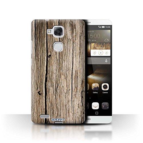 Stuff4® Hülle/Hülle für Huawei Ascend Mate7 / Treibholz Muster/Holz/Holzmaserung Muster Kollektion
