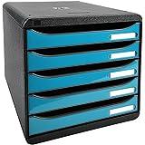 Exacompta Big Box Plus Tiroir Noir/Bleu Turquoise Glossy