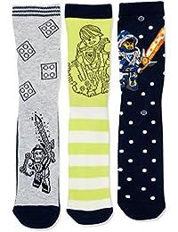 Lego Wear Boy Nexo Knights Ayan 305-3-Er Pack Socken, Chaussettes Garçon, (lot de 3)