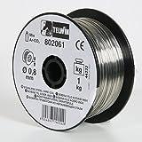 Telwin S.p.A. 802061 Rostfreie Stahlschweissdrahtspule Durchmesser 0,8 mm, 1 Kg, Grau