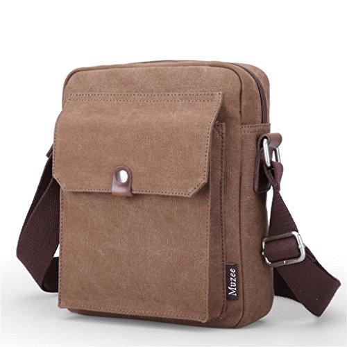 Global-Neue Männer Retro-khaki Messenger bag Mann Leinwand Umhängetasche Freizeittasche Mann Tasche Europa Braun