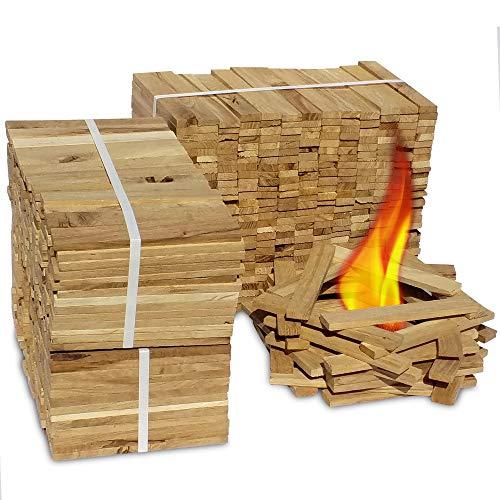 Premium Eiche Anmachholz (Neue Version 2020) - Besonders sauberes und trockenes Brenn-Holz - Ideales Anfeuerholz für eine kuschelige Raumwärme - Perfektes Zubehör um Brennholz im Kamin zu entfachen