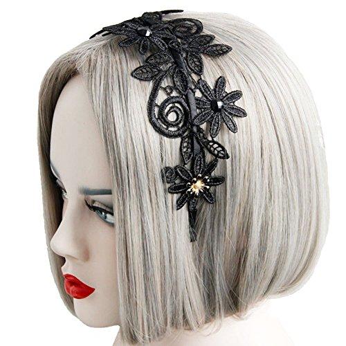 Preisvergleich Produktbild Aiklin Damen Spitze Haarreif Blumen Stoff Haarreif