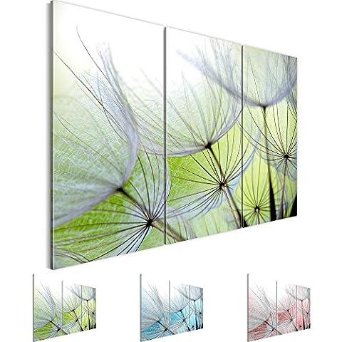 Bilder 120 x 80 cm - Pusteblume Bild - Vlies Leinwand - Kunstdrucke -Wandbild - XXL Format – mehrere Farben und Größen im Shop - Fertig Aufgespannt !!! 100% MADE IN GERMANY !!! - Blumen – Natur