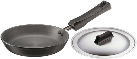 Hawkins Futura Hard Anodised Frying Pan with Lid, 18cm
