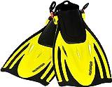 AQUAZON verstellbare Flossen, Schnorchelflossen, Taucherflossen ALICANTE für Kinder, Jugendliche, Damen, Gelb, Junior