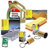 BOSCH-FILTER Inspektionspaket SET 'B' inkl. 5l 5W-30 CASTROL EDGE FST