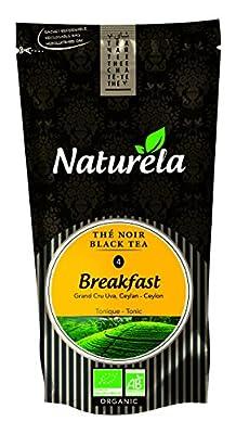 NATURELA Thé Noir Anglais Breakfast Bio Ceylan N° 4 100 g - Lot de 6