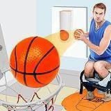 MonsterZeug Basketball für die Toilette, Toiletten Basketball Set, Basketballkorb Toilette, Slam Dunk Toilet