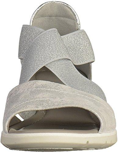 ara Damen Lido-Sand Offene Sandalen Silber