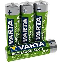 Varta Rechargeable Accu Ready2Use vorgeladen AA Mignon Ni-Mh Akku 4er Pack 2600 mAh - wiederaufladbar ohne Memory-Effekt - sofort einsatzbereit (Design kann abweichen)