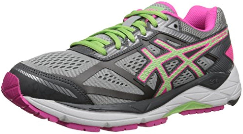 Zapatillas para correr con base de gel para mujer 12, Plata / Pistacho / Rosa brillante, 6.5 D US