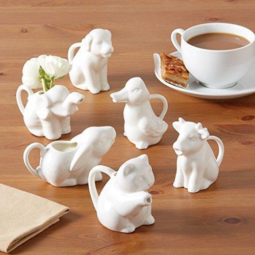 Milchkännchen aus Porzellan, für Tiere, 6 Stück -