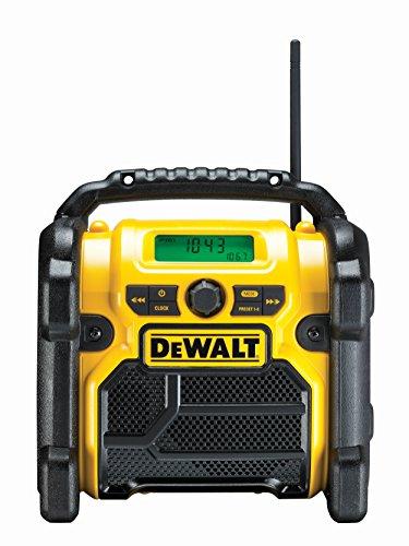 DeWalt Baustellenradio DCR019 - 2in1 Akku Radio & Netz Radio mit AUX-Eingang, robustem Gehäuse, Kabelaufbewahrung, flexibler Antenne und Überrollbügel - Tragbares Radio zum Empfang analoger Signale (Black Radio Und Decker)