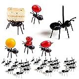 Ensemble fourchette à fruits fourmi, fourchette à dessert à usage multiple pour four à gâteau...