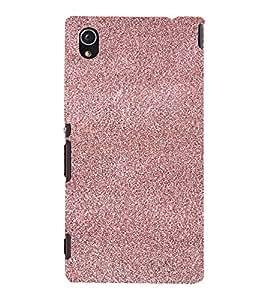 PrintVisa Maroon Sand Paper Design 3D Hard Polycarbonate Designer Back Case Cover for Sony Xperia M4 Aqua