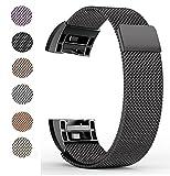 Benestellar Fitbit Charge 2 Armband, Milanaise Magnetverschluss und Metallschließe für Fitbit Charge 2 (Verbesserte Version)