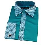 Jungen besonderen Anlass Hochzeit Smart Shirt, Krawatte Manschettenknöpfe und Taschentuch Set Gr. 11-12 Jahre, aqua