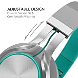 AILIHEN-C8-Foldable-Headphones-with-Microphone-and-Volume-Control-Lightweight-Stereo-Headsets-for-35mm-Android-Cellphones-Smartphones-iPhone-Laptop-Computer-Mp3-GreyMint