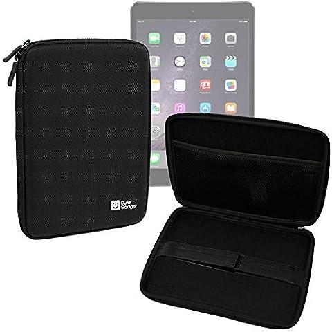 DURAGADGET Funda Rígida Negra Para Apple iPad Air 2 ( Wi-Fi, Wi-Fi + Cellular ) - Con Cremalleras De Alta Resistencia Y Bolsillo Interno