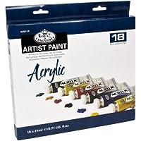 Royal & Langnickel - Pintura acrílica (21 ml, 18 unidades), multicolor