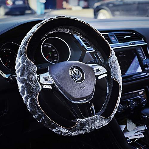 OLDF Lenkrad Abdeckung Für Männer Fuzzy Winter Lady Auto Handle Plüsch Wärme Universelle Lenkrad Abdeckung 14,96