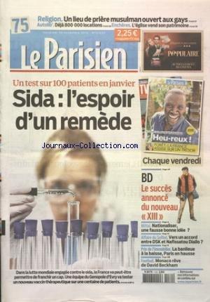 PARISIEN [No 21220] du 30/11/2012 - SIDA...