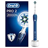 Oral-B PRO 2000/PRO 2 - 2000N CrossAction Electric Toothbrush Rechargeable Powered by Braun (Packaging May Vary)