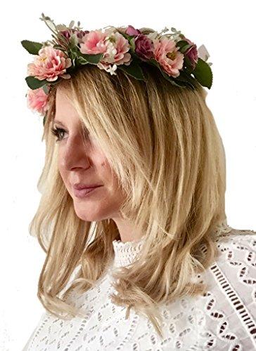 Lia Fashion Vintage Haarschmuck, Kranz, Hochzeit, Blumen elegant Braut cool zum Dirndl, Retrostil...