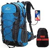 Zaino da Trekking Outdoor Donna e Uomo con Protezione Impermeabile per alpinismo arrampicata equitazione ad Alta Capacità borsa da viaggio,Multifunzione, 40 litri (Blu)