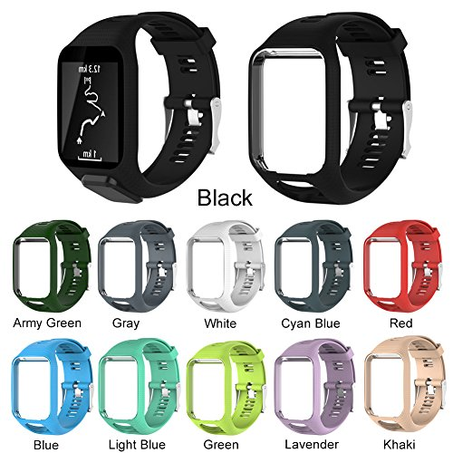 TomTom Spark Silicone Smart Watch Bracelet & Replacement Strap for Cardio Music GPS Watch Runner 2