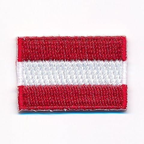 60 x 35 mm Österreich Flagge Austria Flag Wien Graz Aufnäher Aufbügler 0914 (35 Flags)
