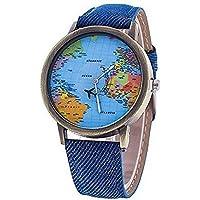Wiwi.f Art- und Weisedame-Frauen-Weltkarte-Armbanduhr-Neue Art-Quarz-Uhr