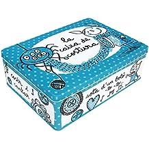 Laroom 12579 - Caja metálica la caixa de costura, color azul