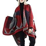 HCFKJ Mantel, Herbst und Winter Mode Frauen Decke übergroßen Tartan Coat Wrap Plaid gemütliche Schal (RD)