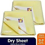 BeyBee- Baby Waterproof Sheets Medium Size Combo Pack of 2 Yellow