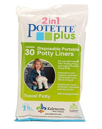 Potette Plus Pot r/éutilisable Premium/ /Compatible avec tous les Potette potties/ /Bleu