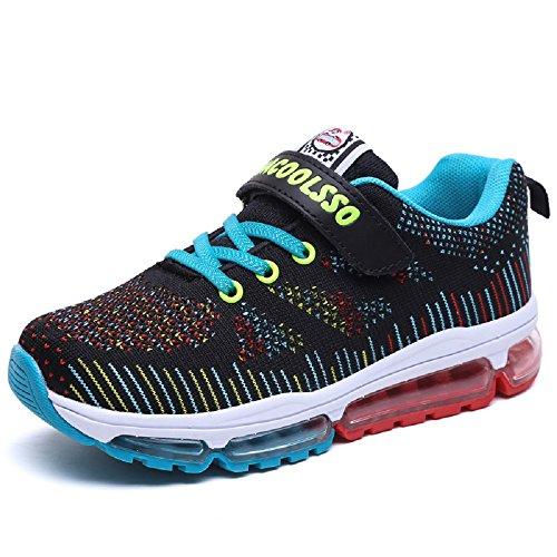 MXshoes Sneaker Kinder Laufschuhe Jungen Hallenschuhe Mädchen Turnschuhe Outdoor Leicht Sportart Schuhe für Unisex-Kinder (36, Blau)