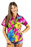 Funky Hawaiihemd Hawaiibluse, Big Flower, pink, M