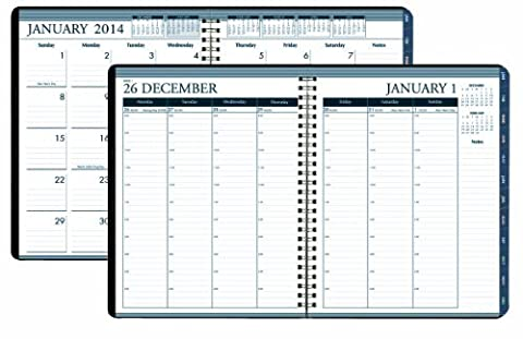House of Doolittle Weekly/Monthly Planner 12 Months January 2014 to December 2014, 8.5 X 11 Inches, Weekly Monthly Format with Tabbed Monthly Index, Recycled (HOD28302) by House of Doolittle