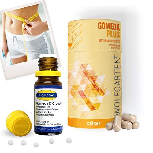 HOMEDA GOMEDA komplett Set • hCG-Diät-Kapseln und Globuli • Globuli und Nahrungsergänzungsmittel inkl. Vitaminen und Mineralstoffen für Deine 21-Tage-Stoffwechselkur und andere Diäten -