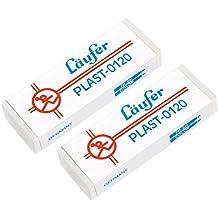 Läufer 69809 Plast 0120 Radierer, radiert zuverlässig Bleistifte und Buntstifte, Blisterkarte enthält 2 Radiergummis