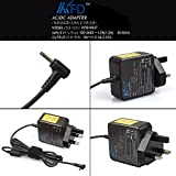 TAIFU UK Wall Charger Adapter For Asus Eee PC X101CH,Asus Eee PC 1225B,ASUS ADP-40PH BB,Asus Eee PC Seashell Series 1001HA 1001P 1001PX 1005HA 1005P 1005PE 1005PR 1008HA 1008P1015P 1015PE 1101HA 1201HA 1201N 1201NL 1201PN 1101HA / Asus Eee PC R11CX R101 R105 R105D R101d R101x R011CX R011PX R051PX X101H 1001PG 1001PXD 1001PX 1015BX 1018P 1025C 1025CE 1201NL 1201HAB 1201HA 1201PN 1201N 1215N,fits EXA0901XH 90-XB02OAPW00020Q 90-XB02OAPW00120Q AD6630 ADP-40PH ADP-40PH AB ASUS RT-AC66U AC1750 Router